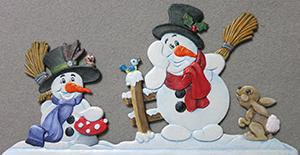 Zinnfigur Schneemänner